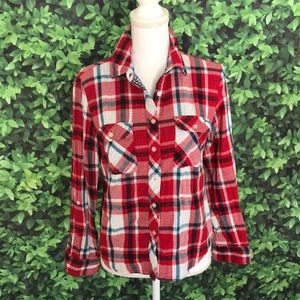 Urban Outfitters Sz m flannel plaid shirt buttons